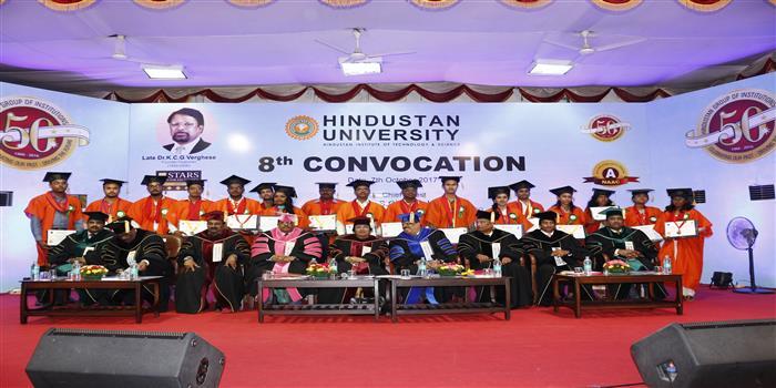 Hindustan University clebrates 8th convocation