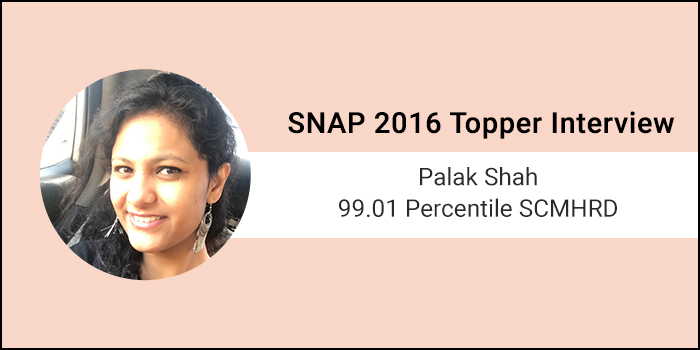 SNAP 2016 Topper Interview: Coaching adds value to the preparation, says 99.01 percentiler Palak Shah