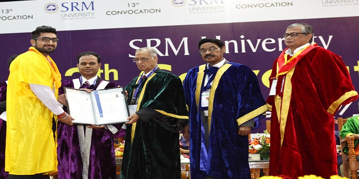 SRM University's 13th Convocation; Be open to ideas and willing to learn advises Infosys Founder