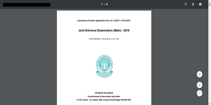 JEE Main 2018 brochure released by CBSE; Online exam on April 15 & 16!