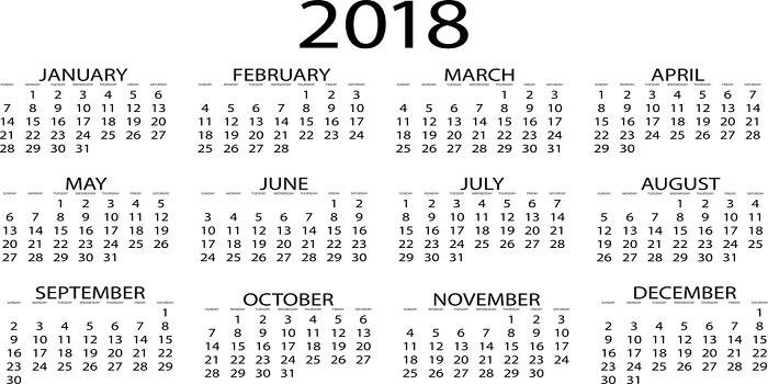 SET Law Important Dates 2018