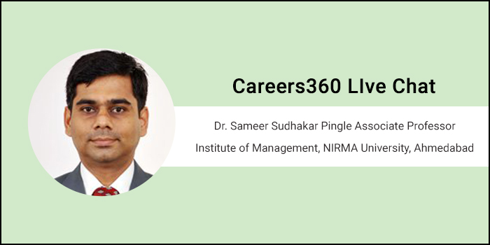 Careers360 Live Chat: Q&A session with Dr. Sameer Sudhakar Pingle, Admission Committee Coordinator, IMNU Ahmedabad