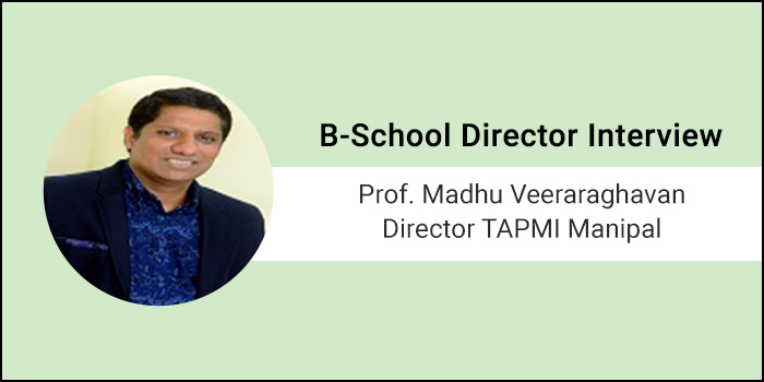 'It's wonderful to work with Quality students,' says Prof. Madhu Veeraraghvan, Director of TAPMI, Manipal