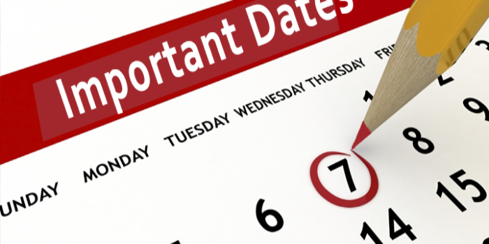 MAT Important Dates 2018