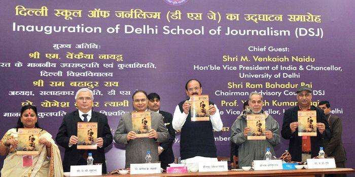 VP M Venkaiah Naidu Inaugurates Delhi School of Journalism; Urges budding journalists to avoid sensationalism
