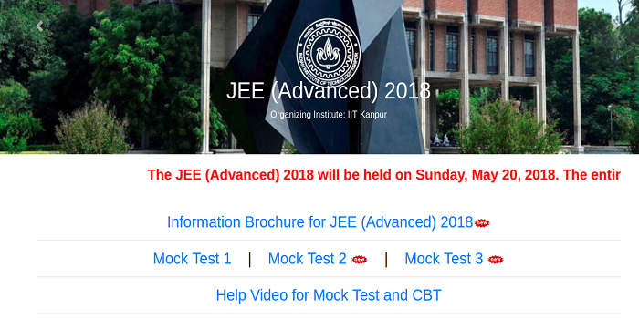 JEE Advanced 2018 Mock Tests 2 & 3 Available Now