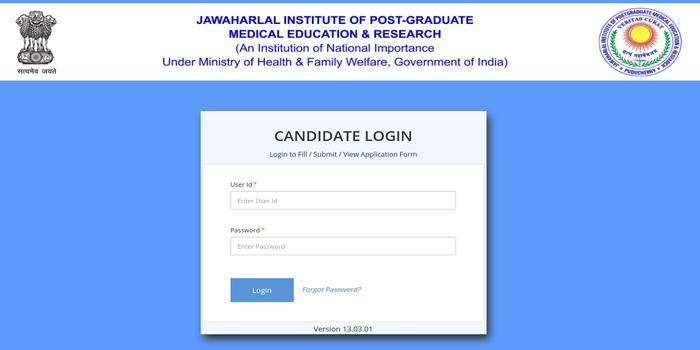 JIPMER Candidate Login 2019
