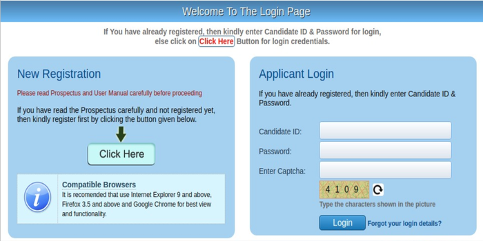 AIIMS Candidate Login 2019