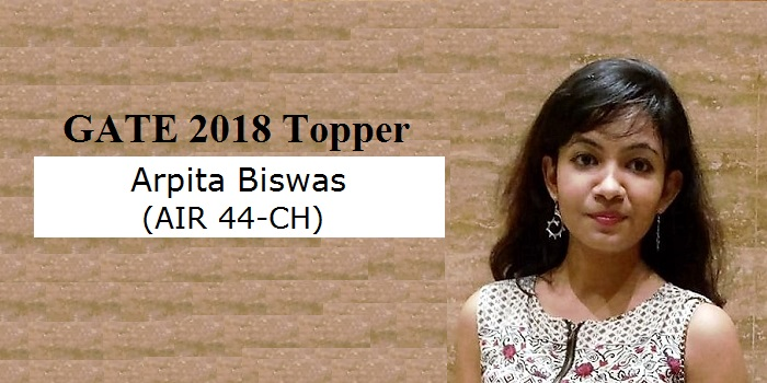"""GATE 2018 Topper Interview Arpita Biswas (AIR 44, CH): """"Believe in yourself and success is yours"""""""