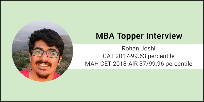 MBA Topper interview: Mocks are the single most important aspect of CAT preparation, says 99.63 percentiler Rohan Joshi
