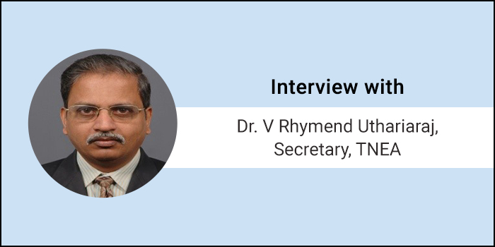 All about TNEA 2018 Online Counselling - Interview with Dr. V Rhymend Uthariaraj, Secretary, TNEA