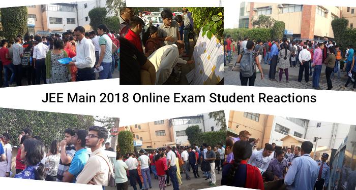JEE Main 2018 Online Exam - Student Reactions
