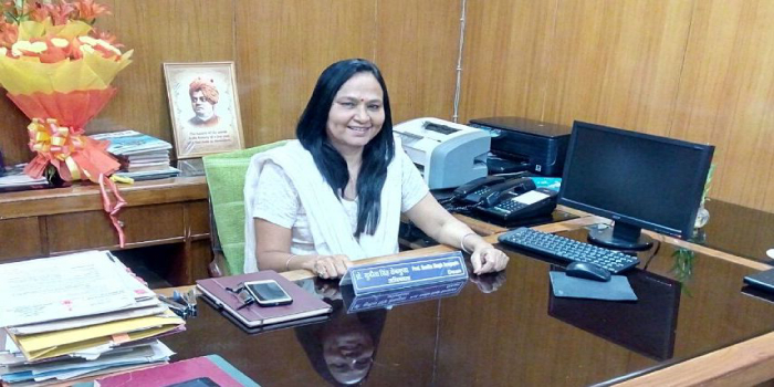 """""""We need to bring Indian authors and philosophies into the management system,"""" says Prof. Sunita Singh Sengupta, Dean FMS"""