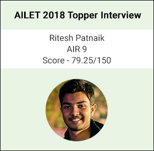 AILET 2018 Topper Interview: Law was something that came naturally to me, says Ritesh Patnaik, AIR 9