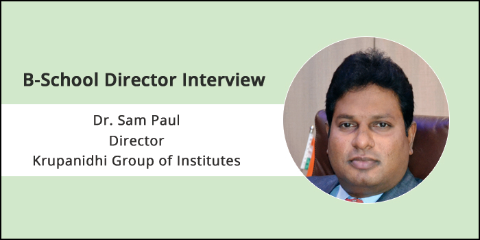 Data Analytics plays major role in Healthcare management sector, says Dr. Sam Paul, Director, Krupanidhi Group of Institutes