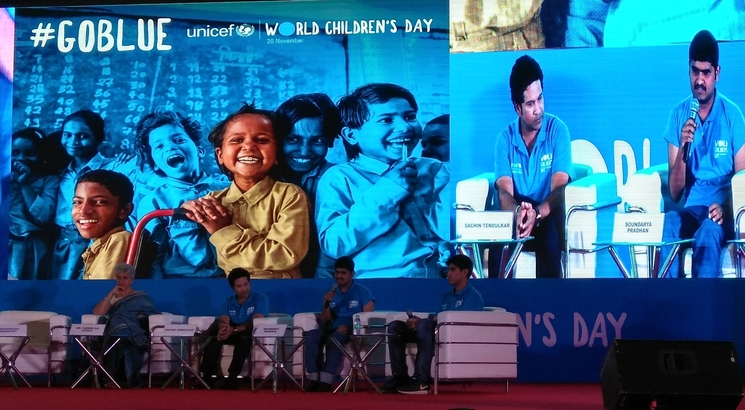 A blue match to remind India of child rights on World Children Day
