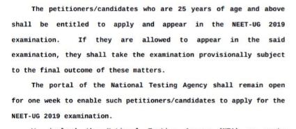 neet court order