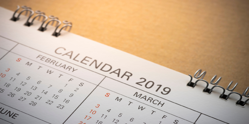 ssc new calendar 2019