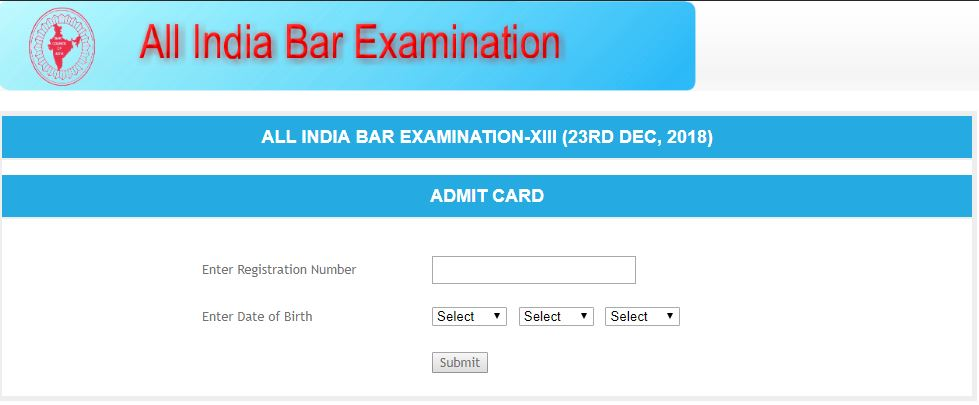 AIBE 2019 Admit Card released; Read instructions for AIBE hall ticket