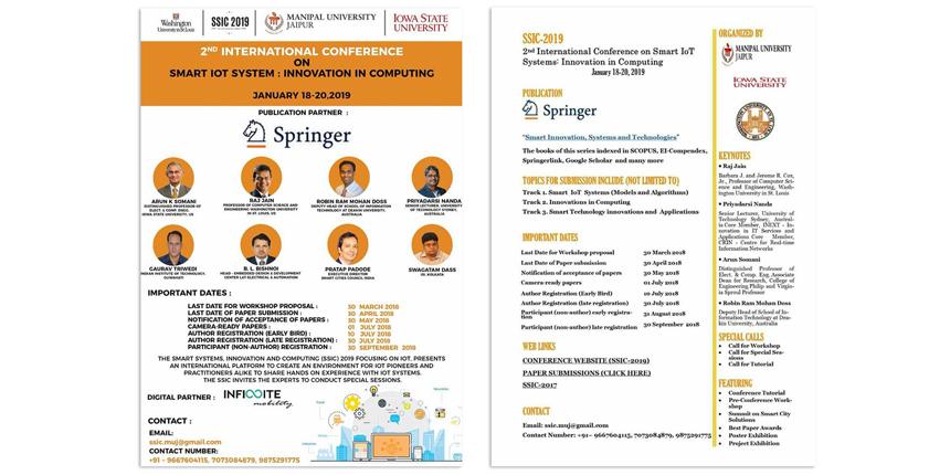 Manipal University is organizing 2nd International Conference on SSIC