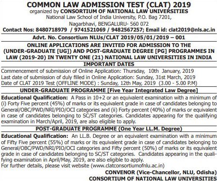 CLAT2019OfficialNotification-Careers360