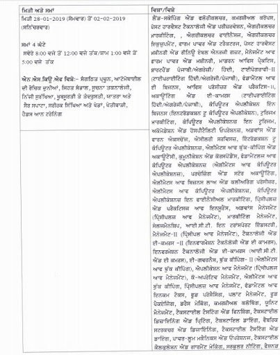 PSEB 12th Date sheet for practicals