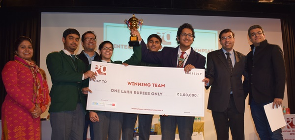 Winners of 'International Financial Olympiad 2019' felicitated