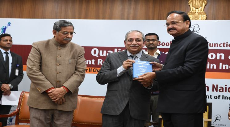 Vice President M Venkaiah Naidu releases book by BIMTECH Director Harivansh Chaturvedi