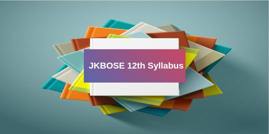 JKBOSE 12th syllabus 2019
