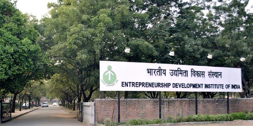 Entrepreneurship Development Institute of India PGDM Admissions 2019