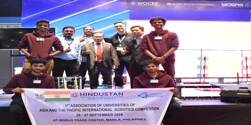 Hindustan Institute of Technology and Science students receive award at International VEX Robotic Competition