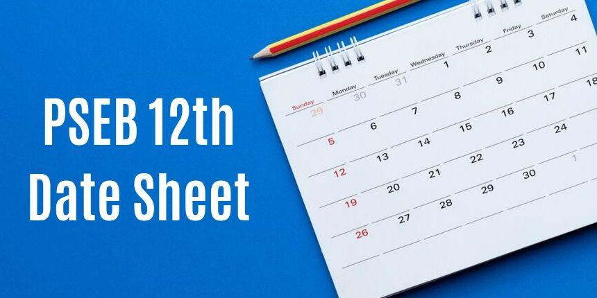 PSEB 12th Date Sheet 2020