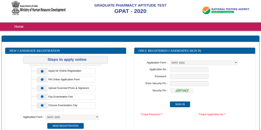 NTA commences GPAT 2020 registration; know how to apply