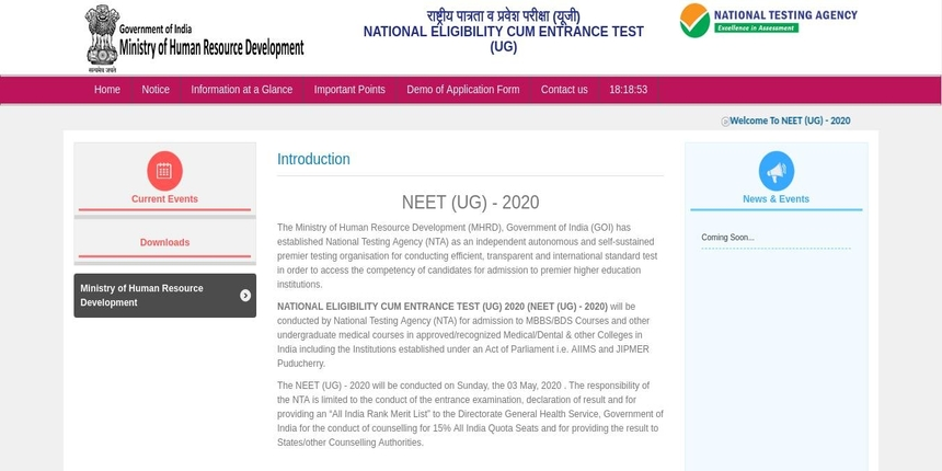 NEET 2020 website launched by NTA; check the site and latest changes