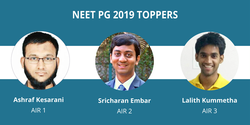 NEET PG 2019 Toppers