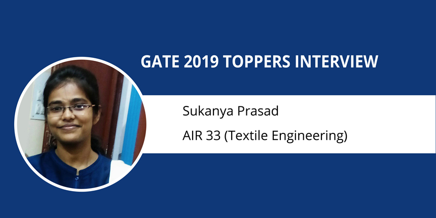 "GATE 2019 Topper Interview Sukanya Prasad (AIR - 33 TE) ""Keep your basics clear to score well"""