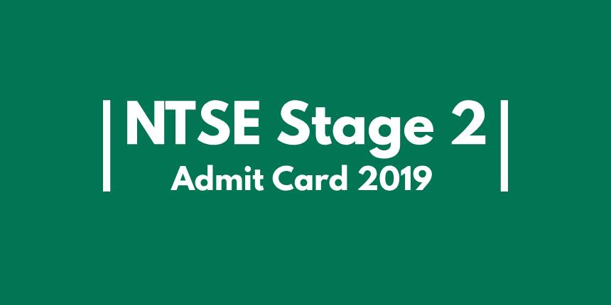 NTSE Admit Card 2019 (Stage 2)