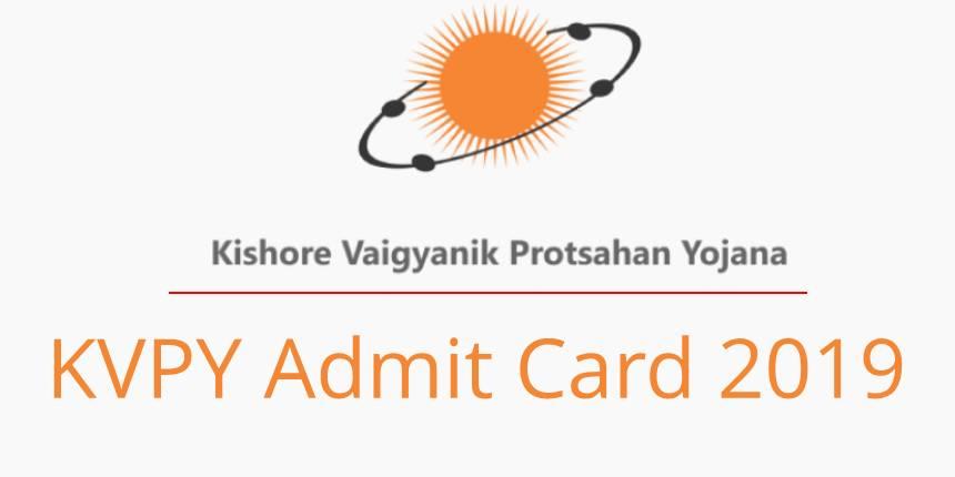 KVPY Admit Card 2019, Hall Ticket