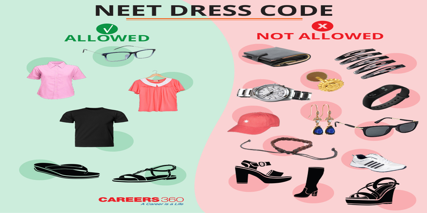 नीट ड्रेस कोड 2019 (NEET dress code 2019)