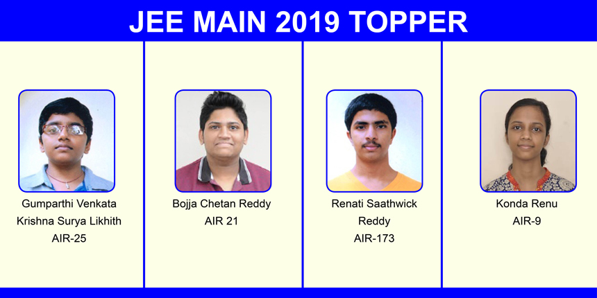 JEE Main 2019 Toppers