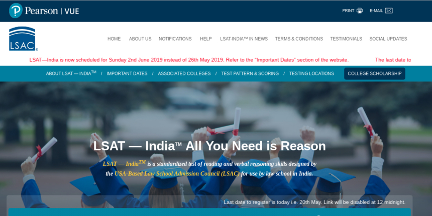 Pearson VUE invites Application for LSAT India 2019