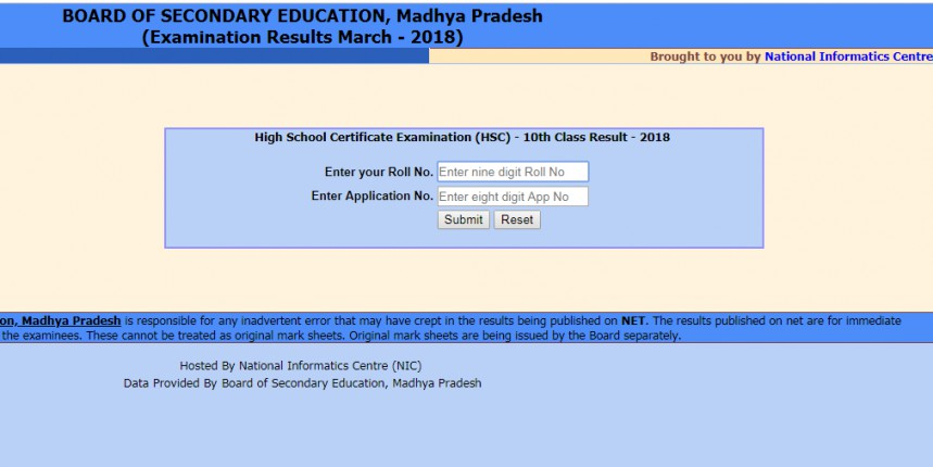 MP Board Result 2019 for 12th, 10th to be announced on May