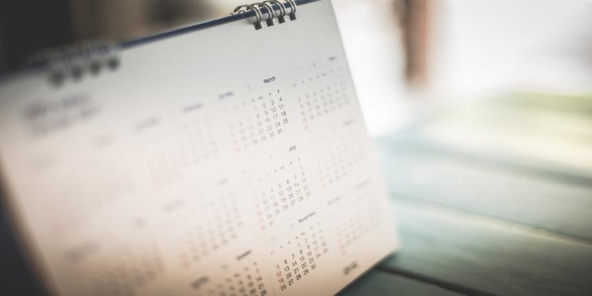 JAM Important Dates 2020