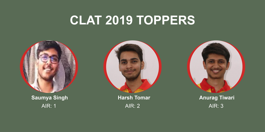 CLAT 2019 Toppers