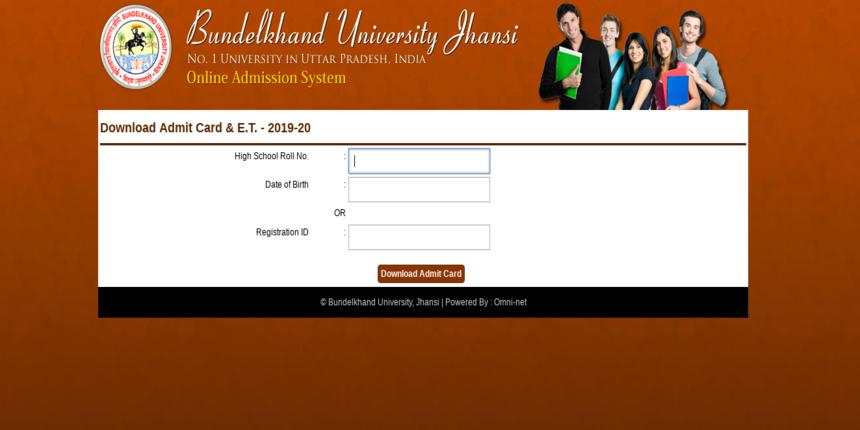 Bundelkhand University 2019 Admit Card Released for UG and PG Entrance Test