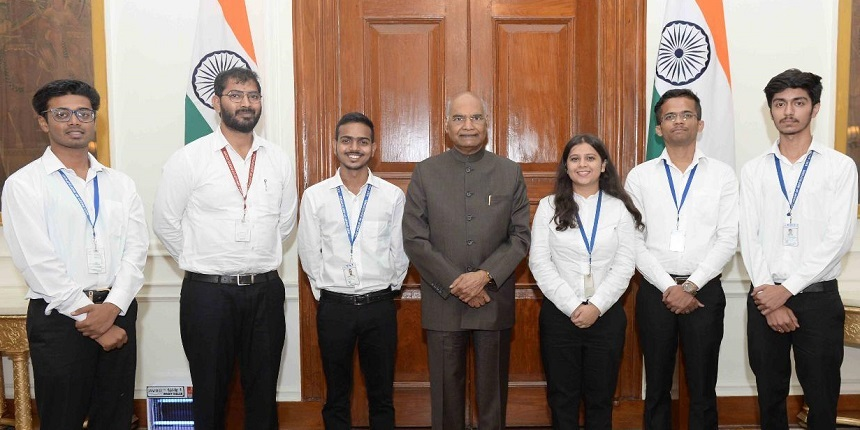 President of India felicitates KIET students
