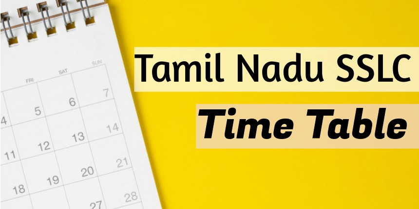 Tamil Nadu SSLC Time Table 2020