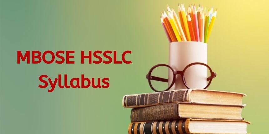 MBOSE HSSLC Syllabus 2020
