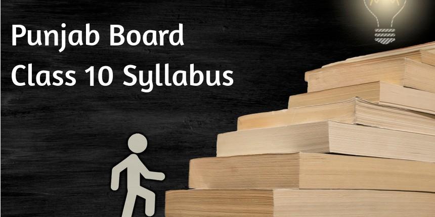 PSEB 10th Syllabus 2020