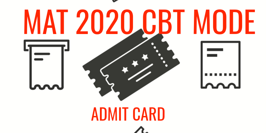 MAT 2020 CBT Mode Admit Card to release on January 28